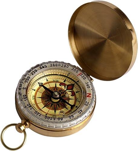 popular Larcele 2021 Outdoor wholesale Multifunction Hiker Navigation Copper Compass ZNZ-01 sale