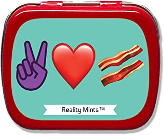 Peace Love Bacon Mints - Funny Bacon Gift for Friends Cute Stocking Stuffers for Adults Peppermint Breath Mints Emoji Gift...
