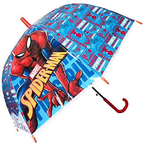 Spiderman Regenschirm, Kuppel, automatisch, für Kinder, 45 cm