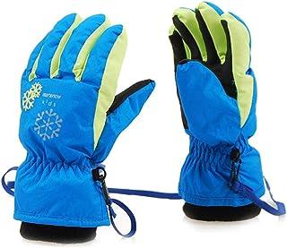 iEay Gants Chauds pour Enfants 3 à 15 Ans - Gants Anti-dérapant pour Fille et Garçon Ski Snowboard Randonnée et Cyclisme M...
