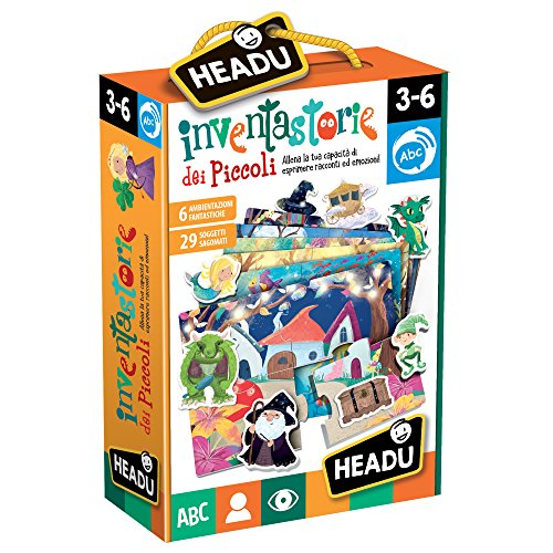 Headu- Inventastorie dei Piccoli Puzzle, Multicolore, IT22236