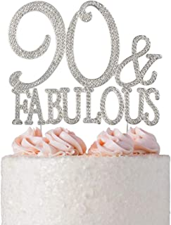 Pleasing 10 Best 90 And Fabulous Cake Topper Reviewed And Rated In 2020 Personalised Birthday Cards Veneteletsinfo