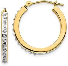 Amazon Com Diamond Fascination 14k Gold Earrings