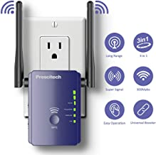 $32 » WiFi Range Extender - 300Mbps Mini WiFi Repeater, Wireless Internet Signal Booster, Wireless Access Point with Ethernet Ports and 2 High Gain External Antennas, Extending WiFi Whole Home and Garden