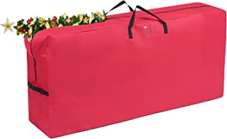 "Vencer Heavy Duty 600D Oxford Christmas Tree Storage Bag Fit Upto 9 Foot Artificial Tree Holiday Red Extra Large Dimensions 65"" x 30"" x 15"",VHO-005"