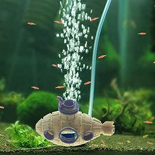 Emours Submarine Unique Aquarium Air Bubbler Fish Tank Decorations Hideout