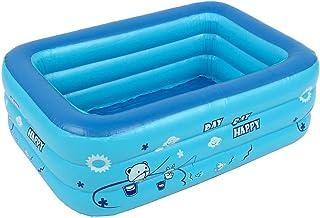 Piscina infantil familiar hinchable y plegable dDanke para jardín. Piscina rectangular hinchable para niños y adultos de color aleatorio