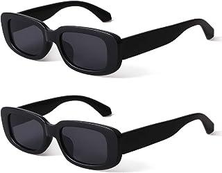 Rectangle Sunglasses for Women Retro Driving Glasses 90's...