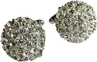 Clinks Cufflinks Mens Crystal Cluster Cufflinks - Clear
