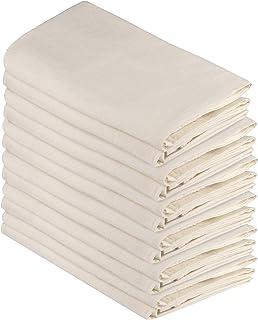 DG Collections Flour Sack Dish Towels, 100% Cotton, Set of 12 (27x27 Inches), Multi-Purpose Vintage Kitchen Towels, Very S...