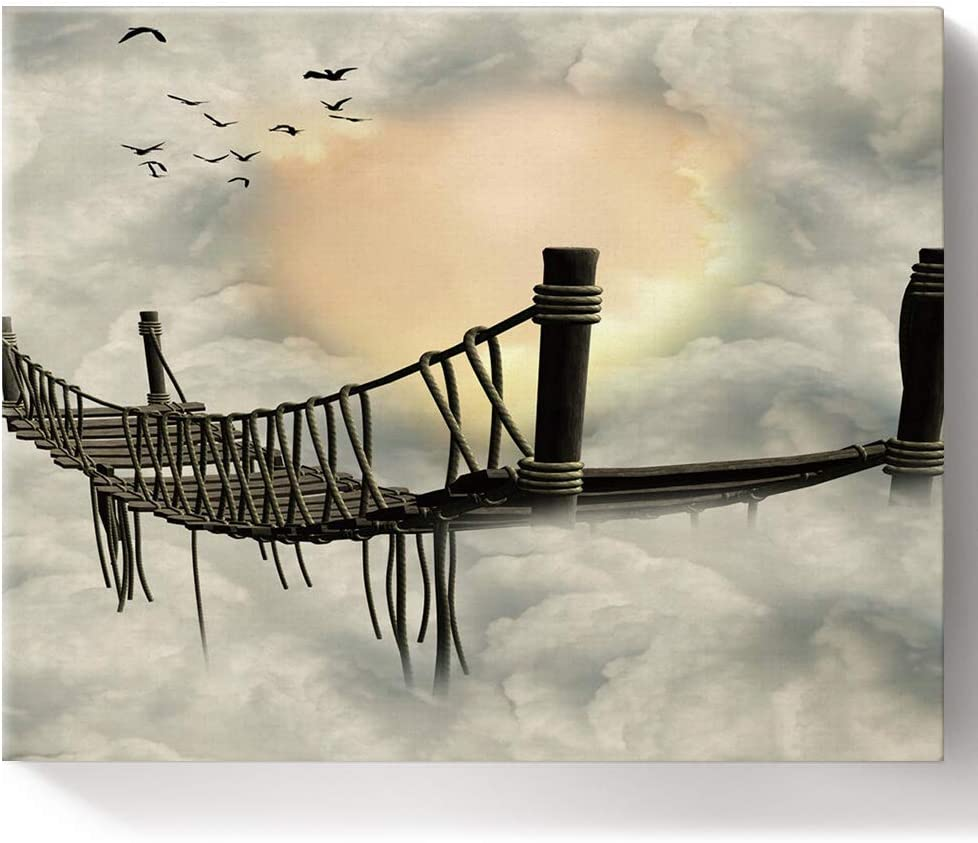 DIY Painting by Numbers for Asuk Choice Kids New York Mall Bridge Adults Suspension
