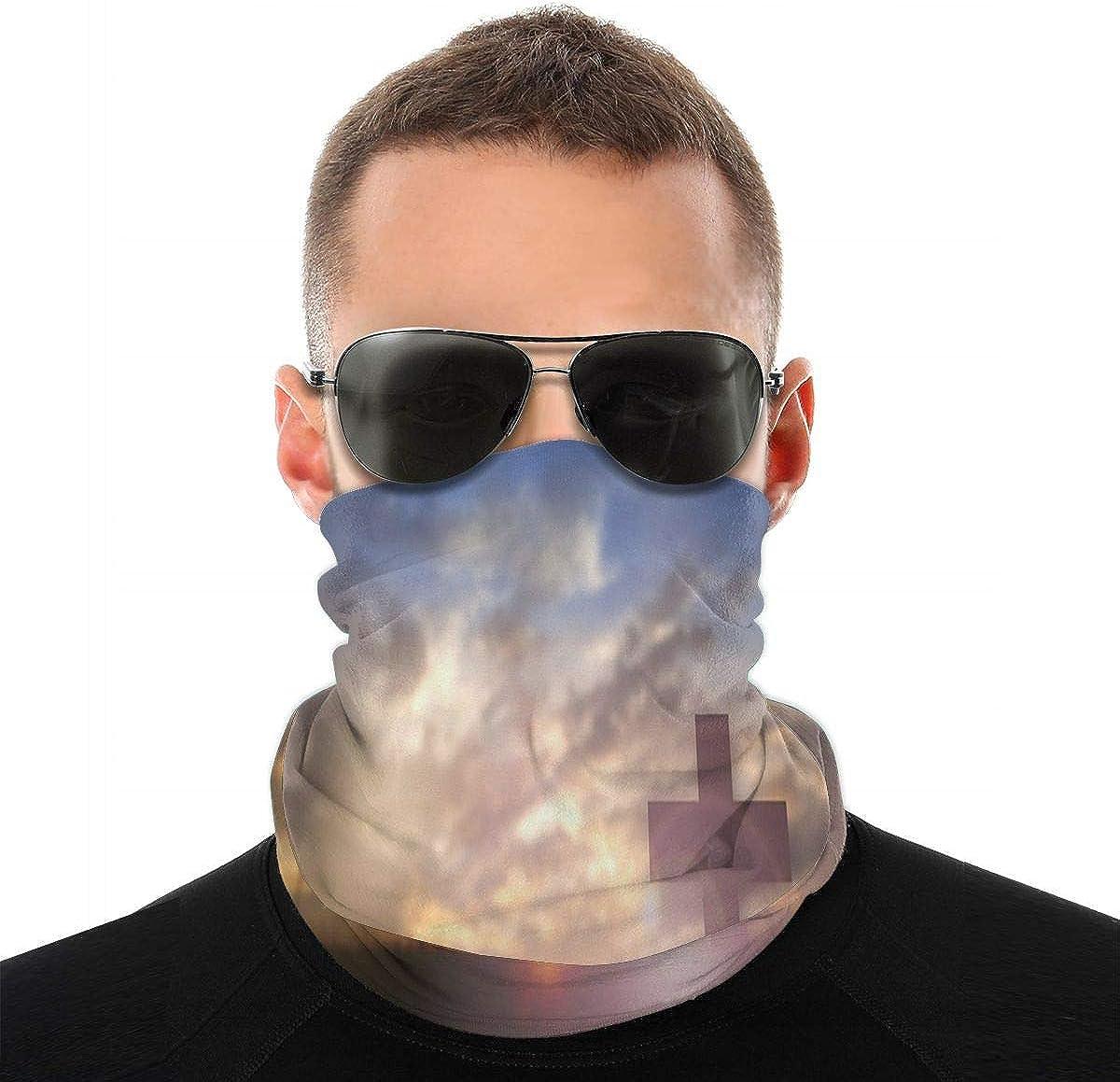 KiuLoam Vintage Christian Praise Easter Seamless Face Mask Bandanas Neck Gaiter for Men and Women, Multifunction Headband Scarf for Dust, Outdoors, Sports