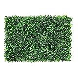 JAWSEU Alfombra de Césped Artificial Jardín Vertical Decoración Interior Pared Hierba,Simulación Artificial Plástico Falso Césped Planta Pared Fondo Decoración Hierba Decoración para 60X40cm