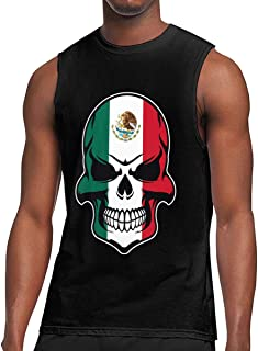 Mens American Grown Mexican Roots Sleeveless T-Shirt Top Cotton Training Bodybuilding Tank Tops