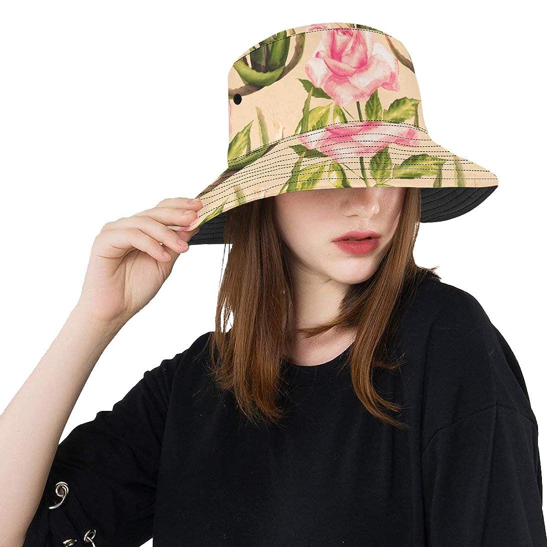 打撃枯れる句HASHA Uvカット帽子 きれいな植物 アロエ バケットハット サンバイザー 日よけ 日焼け止め レディース 女子 綿 つば広 おしゃれ 折りたたみ 春夏 ストローハット アウトドア 旅行 トラベル 紫外線対策 遮光 吸汗速乾 小顔効果抜群