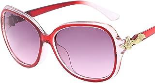 HCIUUI Nuevas gafas de sol 15854 Europa y Estados Unidos retro rana espejo moda caja grande gafas de sol gafas outlet,8. Molde de cobre púrpura,JH15854
