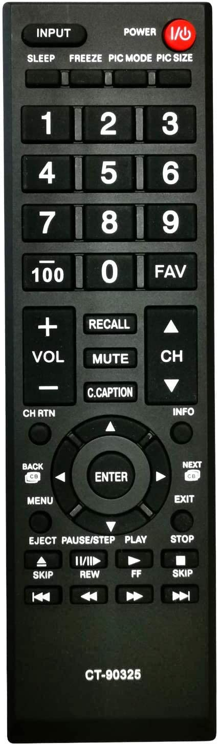 Universal Remote Control for Toshiba TVs Replacement Remote for All Toshiba LCD LED 3D HDTV 4K UHD Smart TV Remotes