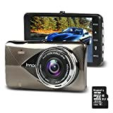 Car Dash Cam Camera with Video Recorder - 1296P Full HD Night Vision front and back 170°Ultra Wide Angle, G-sensor, Motion Detection, LDWS & FCWS, Parking Mode, 16G SD Card Included