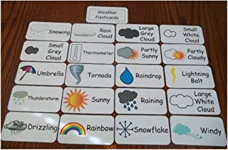 Unbranded Weather Flash Cards. Preschool and Pre Kindergarten Learning Activity. 20 Card Newest!