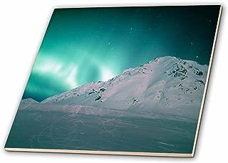3dRose ct_87581_4 Aurora Borealis, Northern Lights, Talkeetna, Alaska - US02 KSC0053 - Kevin Schafer - Ceramic Tile, 12-Inch