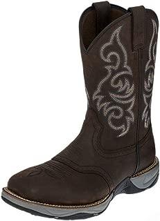Mens Work Boots RR3252 3R Western Steel Toe 13 D Brown