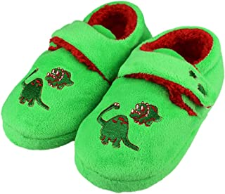 Image of Cute Green Dinosaur Slippers for Boys and Toddler Boys