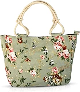 NICOLE & DORIS Damen New Shopper Strandtasche Umhängetaschen für Damen Floral Bunte Handtasche Urlaub Einkaufstasche Tote Segeltuch