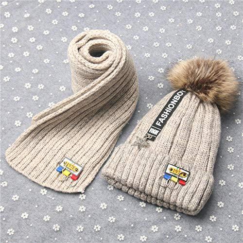 Yaohm muts met sjaal en gebreide mutsen, zacht, betoverend voor de winter van wol, I