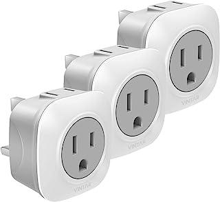 [3-Pack] UK Ireland Travel Plug Adapter, VINTAR International Power Adaptor with 2 American Outlets- 2 in 1 European Plug ...