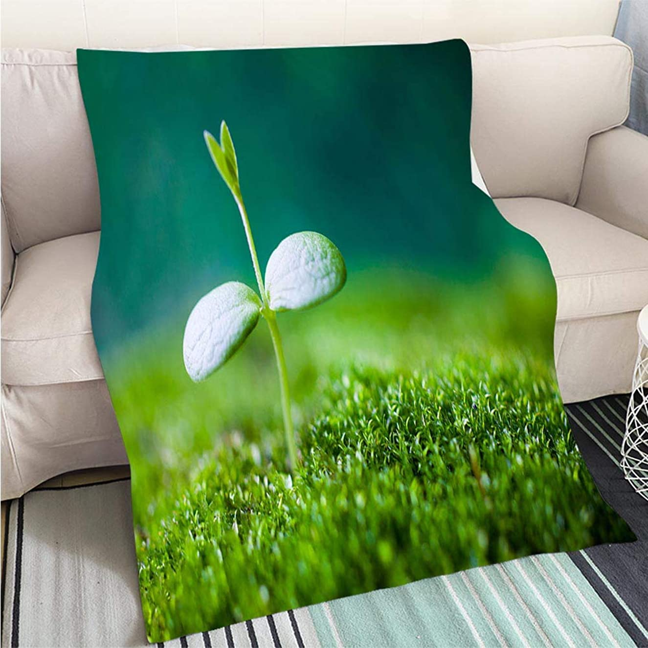 Art Design Photos Cool Quilt Sprout Growing Hypoallergenic Blanket for Bed Couch Chair