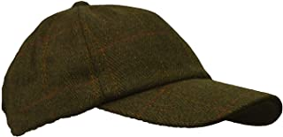 Walker & Hawkes - Uni-Sex Derby Tweed Baseball Cap Hunting Shooting Countrywear Hat - Sage - One-Size