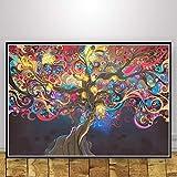 Aya611 Abstrakte Schwarzlicht Gemälde Kunst Psychedelic Trippy Poster Moderne Wand Leinwand Wandbilder Für Wohnzimmer Home Decor50x70 cm Kein Rahmen