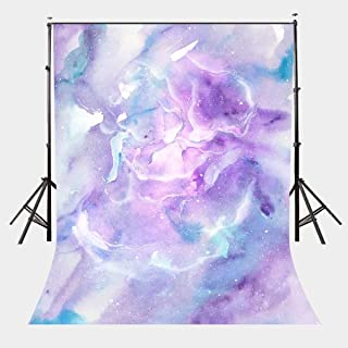 LYLYCTY 5X7ft Pink Purple Watercolor Painting Marble Texture Pattern Studio Backdrop LYHUI049