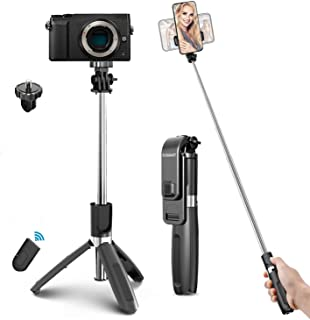 Selfie stick tripord, Extendable Tripod with Wireless Remote Control, tripord Phone Holder Compatible with all android