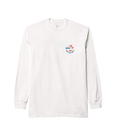 Vans Surf Palm Long Sleeve (White/Blue Jewel/Calypso Coral) Men