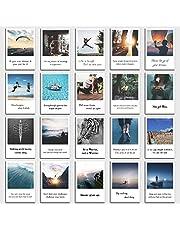 Conjunto de Tarjetas Postales de Motivación - 20 tarjetas con adagios de motivación en estilo retro polaroid de INDIVIDUAL NOMAD