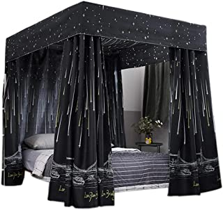 Obokidly Anti-Glare Cute Four Corner Post Bed Curtain Canopy with Bracket Mosquito Net Windproof  sc 1 st  Amazon.com & Amazon.com: Black - Bed Canopies u0026 Drapes / Bedding: Home u0026 Kitchen