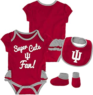 Outerstuff Indiana University Hoosiers Creeper, Bib and Bootie Set Infant Set