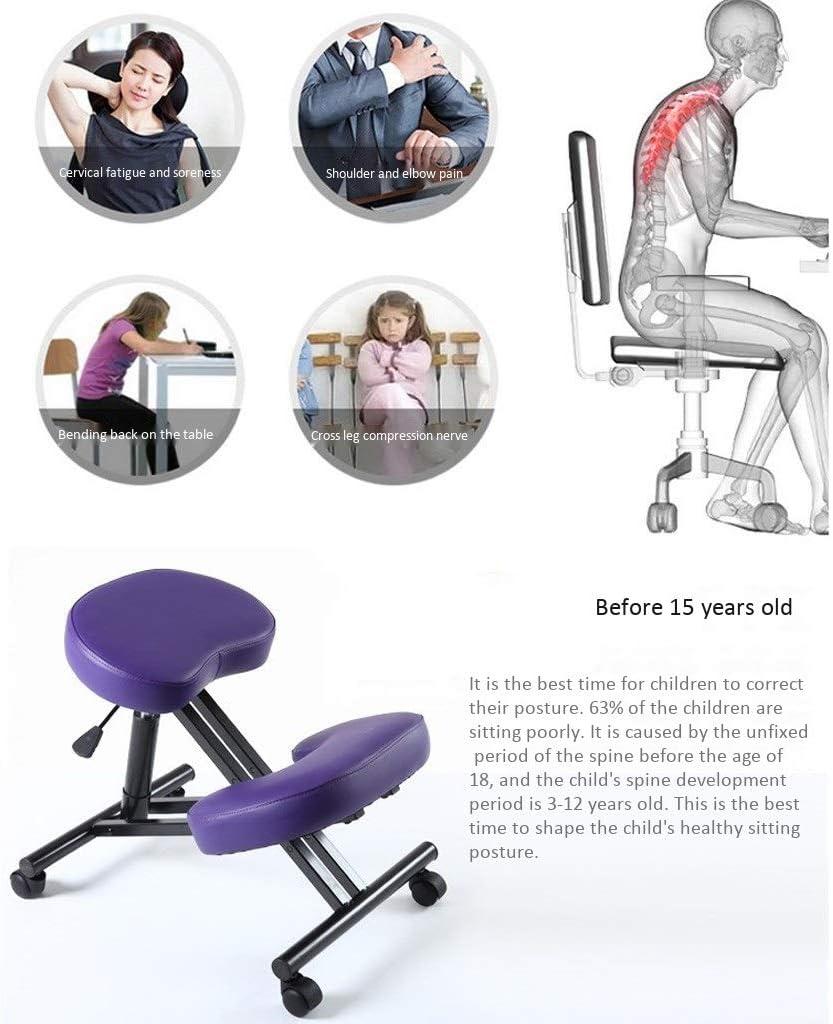 ZHJING Ergonomique Chaise à Genoux Ergonomique Genoux Tabouret Chaise Chaise De Bureau Ordinateur Correct Président Posture Anti-myopie Améliorer Votre Posture (Color : Gray) Gray