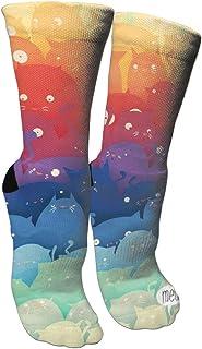 靴下 抗菌防臭 ソックス クリエイティブキャッツアスレチックスポーツソックス、旅行&フライトソックス、塗装アートファニーソックス30 cmロング靴下