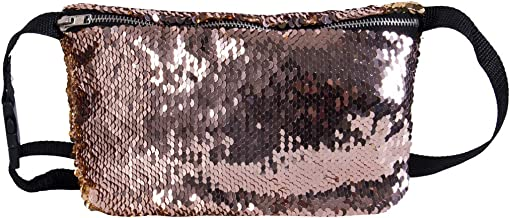 Reversible Mermaid Sequin Glitter Waist Fanny Pack Belt Bum Bag Pouch Hip Purse