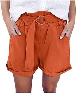 Winwinus Womens Wide Leg Loose High Waisted Casual Fashion Shorts