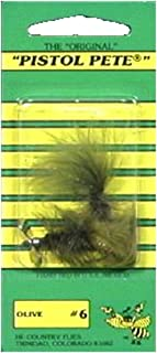 Pistol Pete Hi-Country Fishing Flies, Size 6, Olive