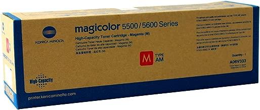 Konica Minolta A06V333 Magicolor 5550 5570 5650 5670 Toner Cartridge (Magenta) in Retail Packaging