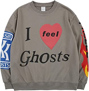 cpfm.xyz Lucky me I See Ghosts I Feel Ghosts Sweatshirt Hip Hop Rapper Crewneck Pullover Hoodie