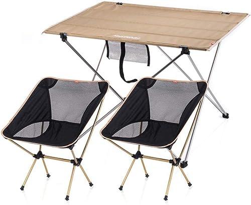 LPYMX Table de Camping Pliante et Chaise La Table de Camping Comprend 2 tabourets for Les Ensembles de Pique-Nique Portables. Table de Pique-Nique Portable et Chaise
