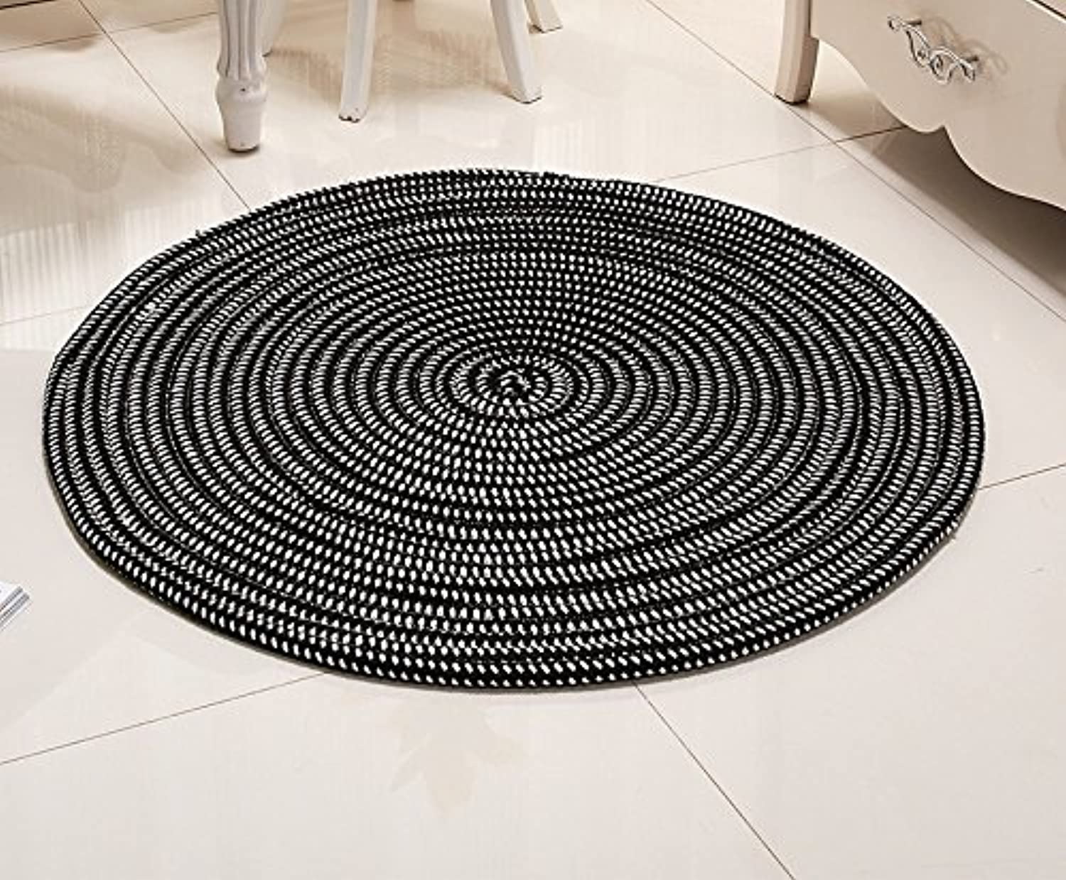 Super - Fiber Rope Series Computer Cushions Rattan Chair Basket Round Carpets Living Room Bedroom Environmental Predection Soft and Comfortable (color    5, Size   Diameter 100cm)