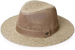 Vadeytfl Sun Hat Summer Men's Outdoor Travel Sunscreen Jazz Hat Wide Eaves Straw Hat Beach Cap (Color : Gray)