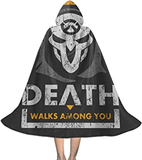 Reaper Or Die Ov-erwatch Unisex Hooded Cloak Cape Halloween Party Decoration Role Cosplay Costumes Black