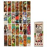 Segnalibri, Lychii confezione segnalibri stile vintage, 28 tipi di segnalibri in carta di design retrò (Set A)